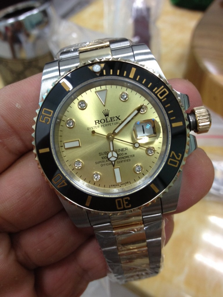 Rolex Submariner 116613 LN Gold Dial Replica