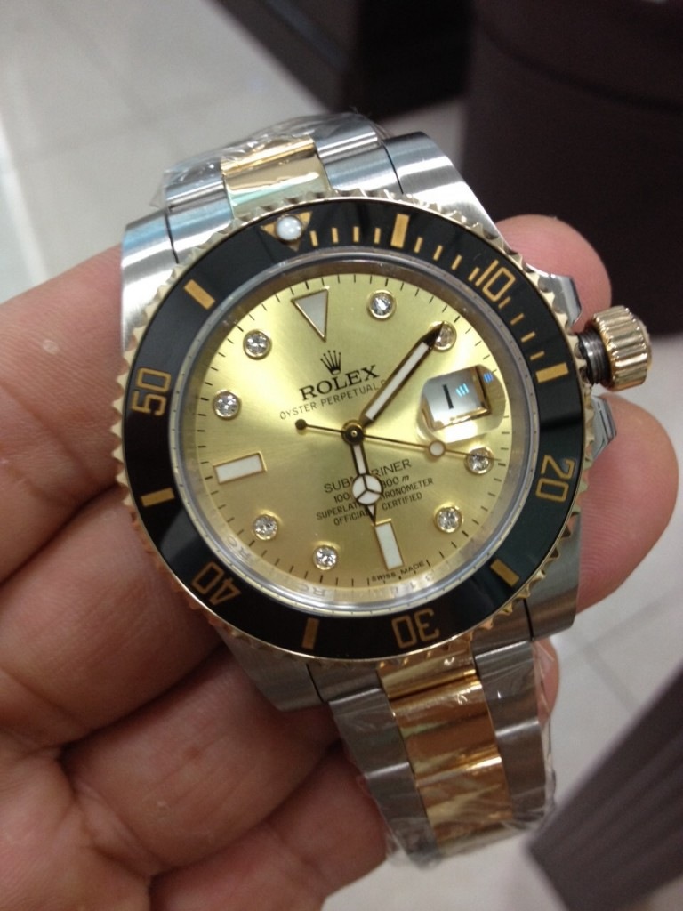 Rolex Submariner 116613 LN Golden Dial Watch