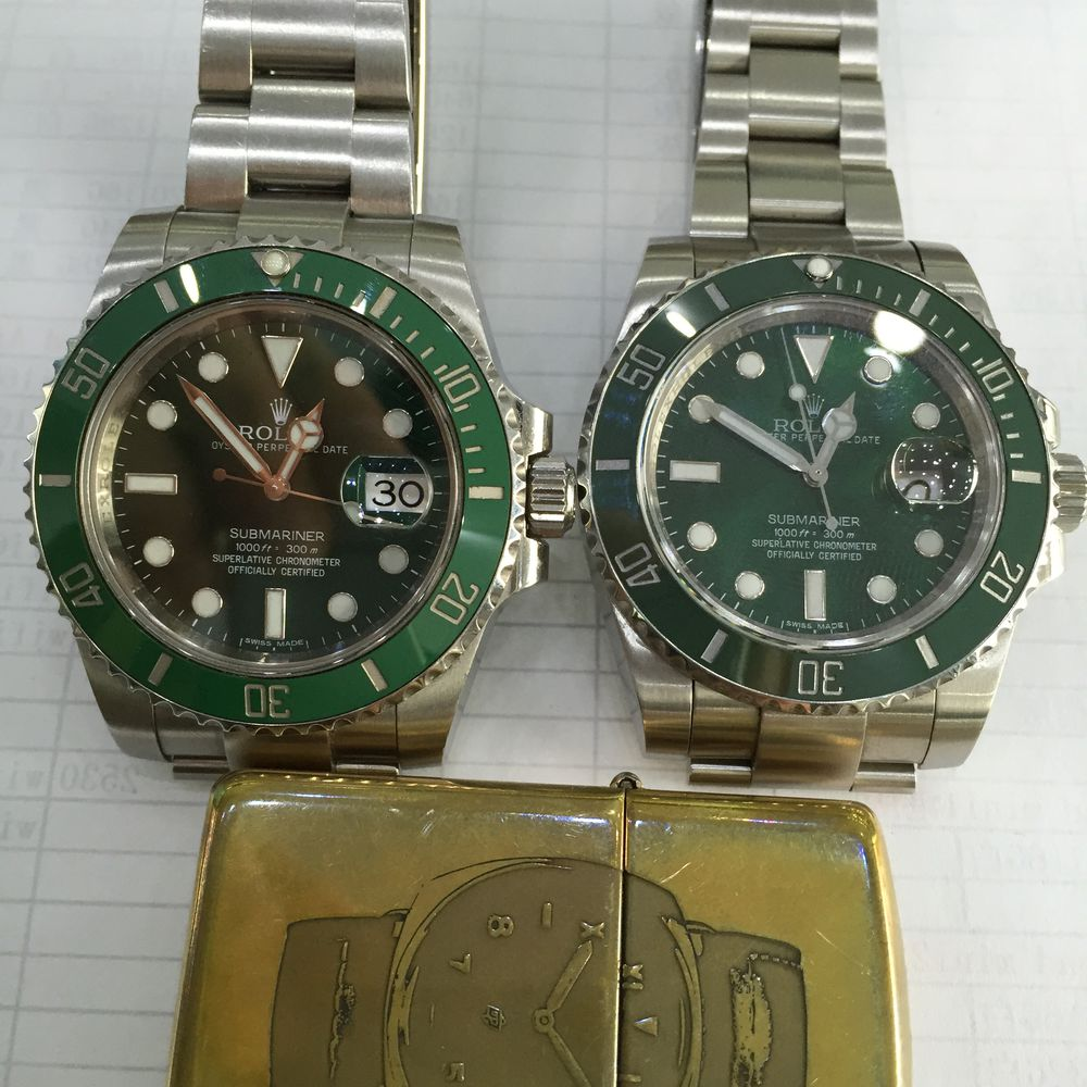 Genuine Submariner VS Replica