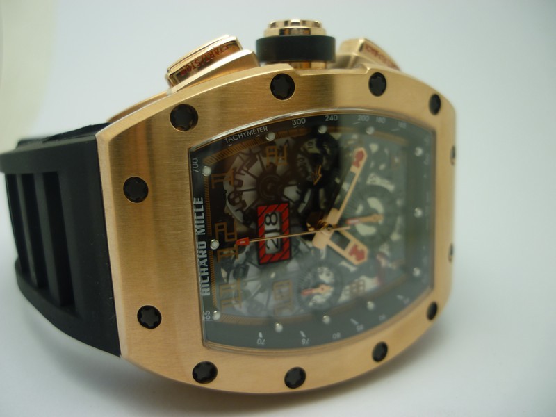 Replica Richard Mille Rose Gold Watch