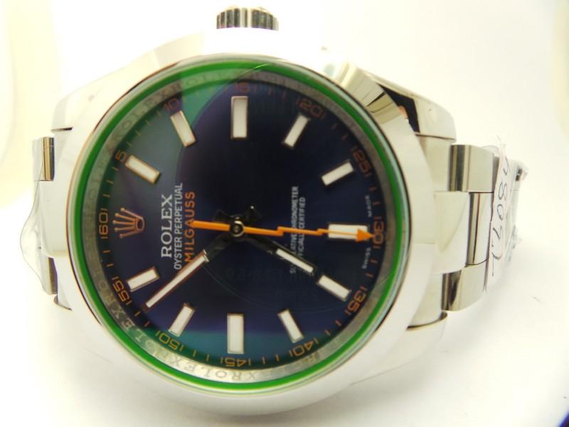 Rolex Milgauss Blue Dial Watch Replica 2