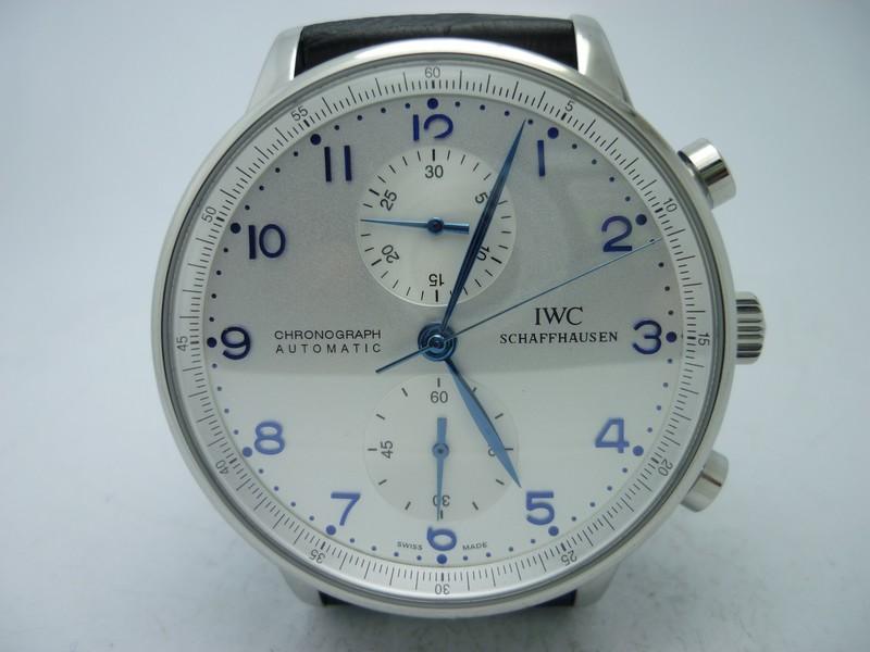 1395431b0c8 Replica IWC Portuguese Chrono Blue Steel Hands New 7750 Movement ...