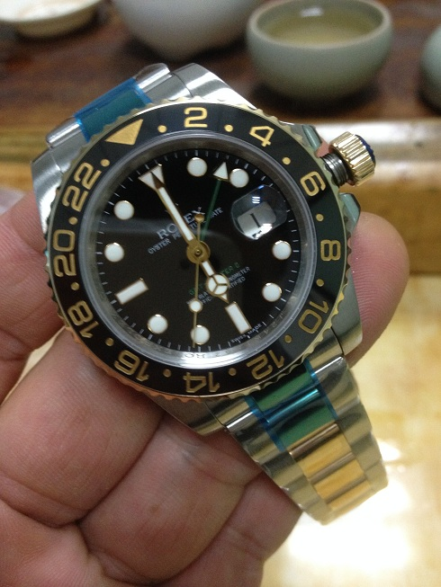 Noob Rolex 116713LN GMT Master II YG Wrapped 4