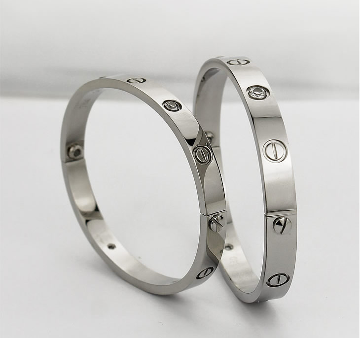 White Gold Cartier Love Bracelet3