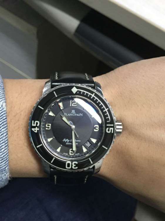 Blancpain Fifty Fathoms Wrist Shot