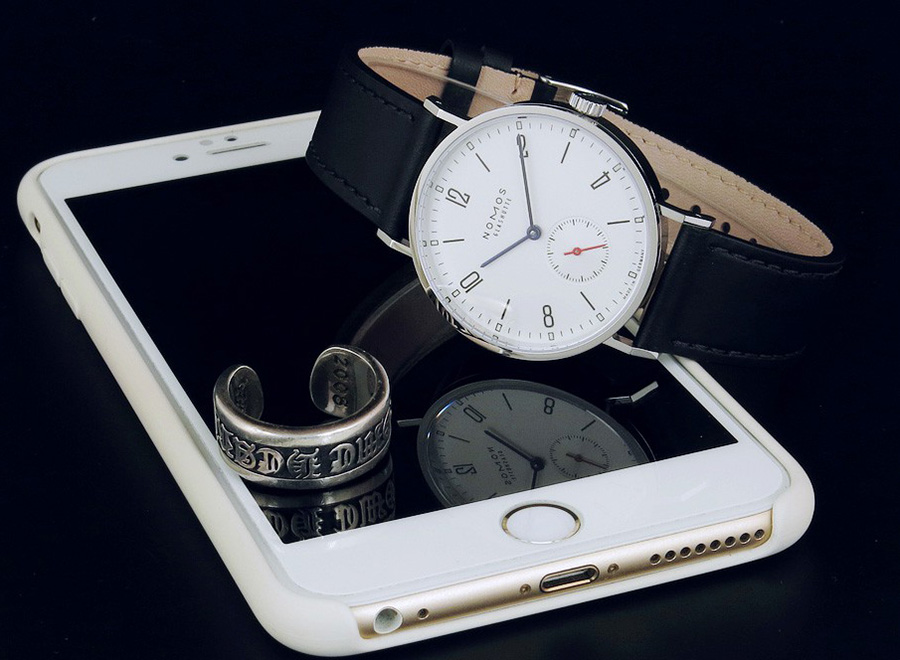 NOMOS Tangente White Dial Black Leather Strap