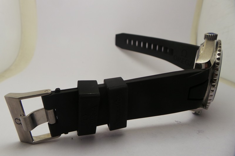 Omega Black Rubber Strap