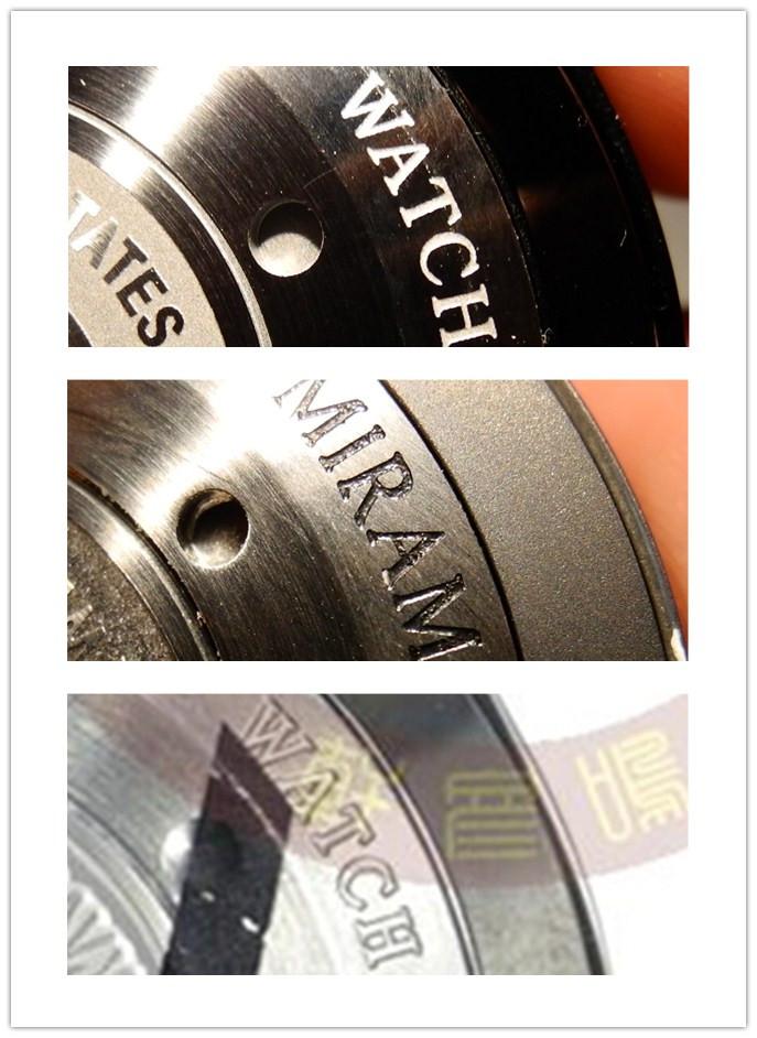 Case Back Rim Engraving on Replica vs Genuine