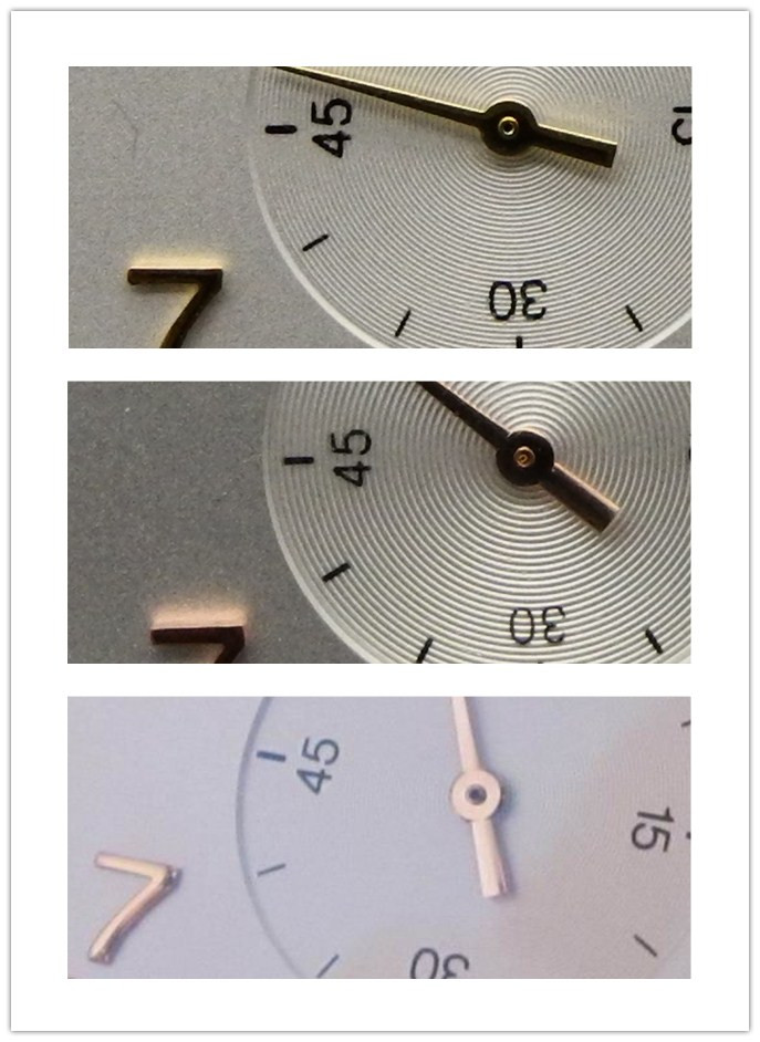 Small Second Subdial Markers
