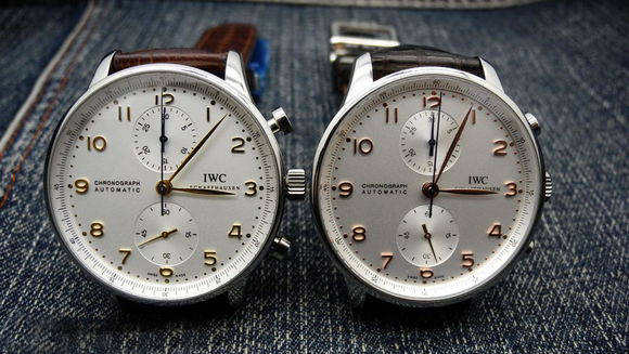 Two IWC Portuguese Chronograph Replica Watches