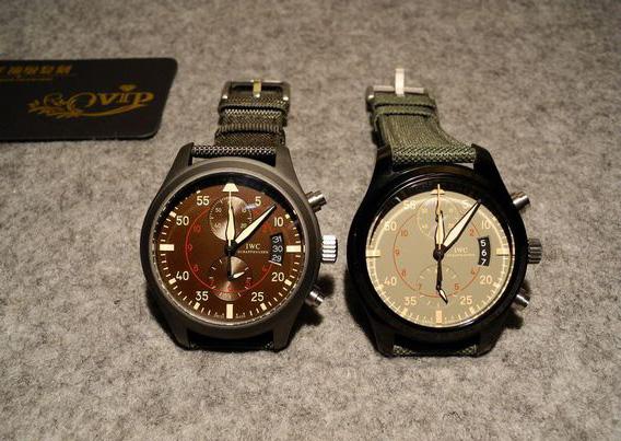 Two IWC Top Gun Miramar Replica Watches