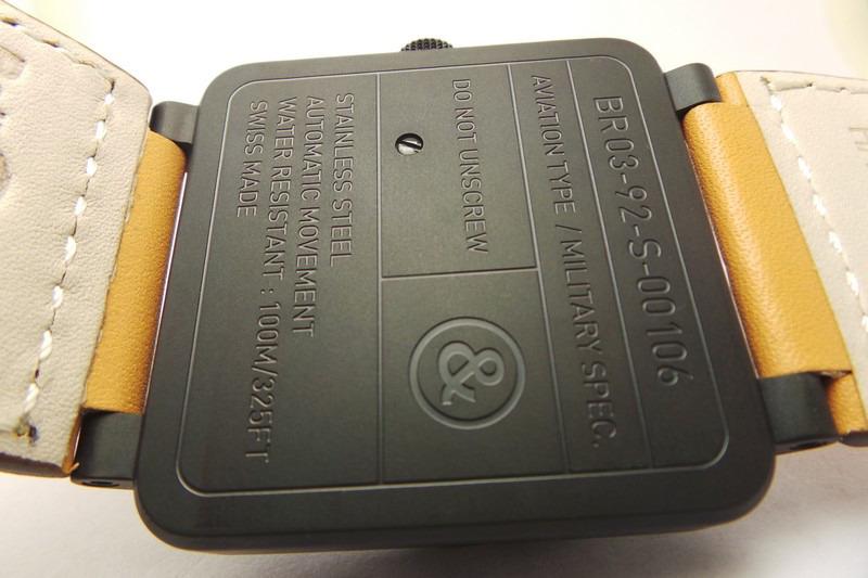 Bell Ross Caseback Engraving
