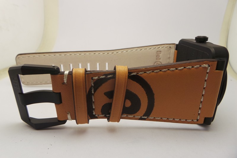 Brown Leather Strap with BR Logo