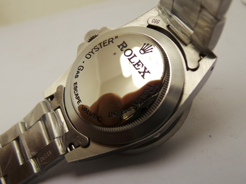 Rolex and Logo on Case Back