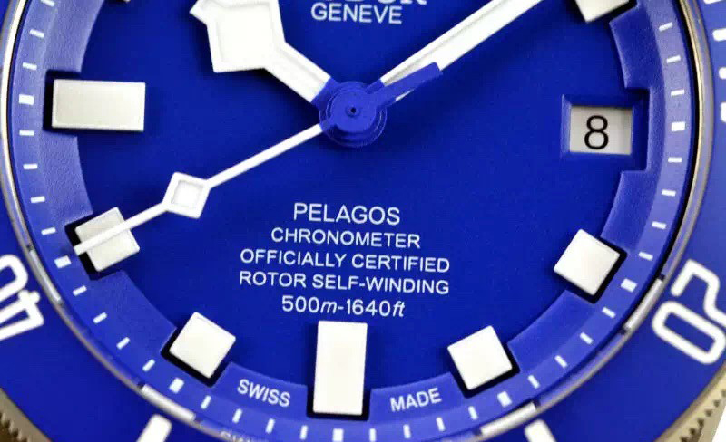 White Printing on Blue Dial