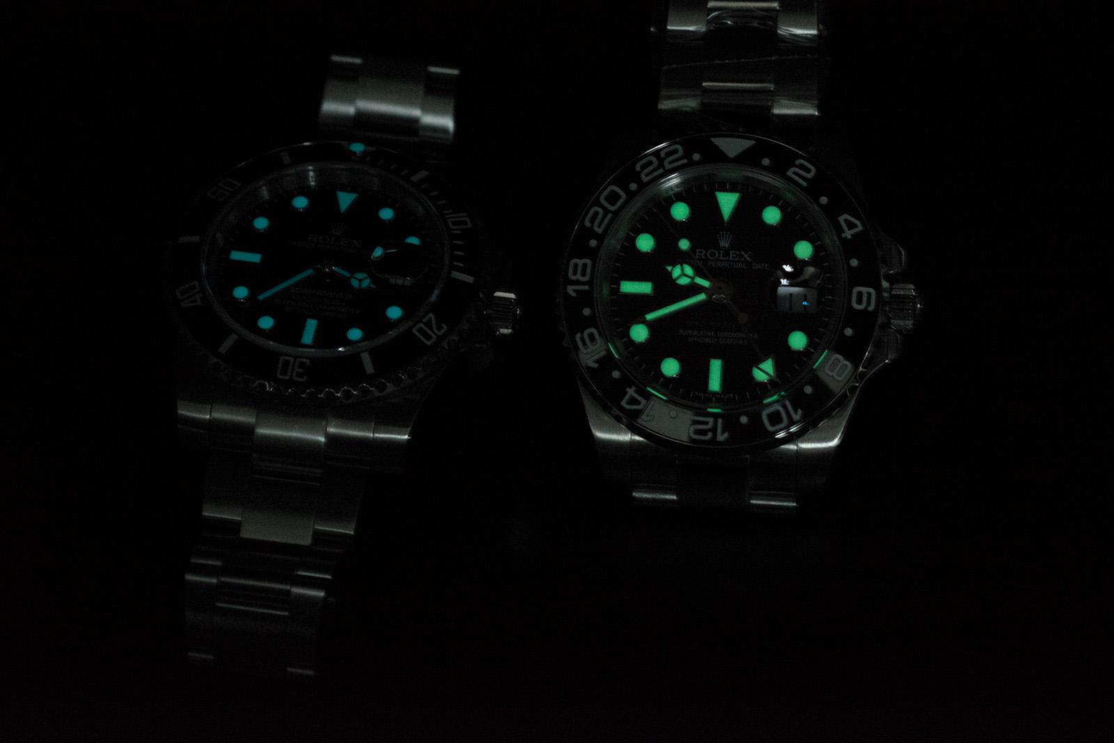 Lume Comparison GMT VS Sub