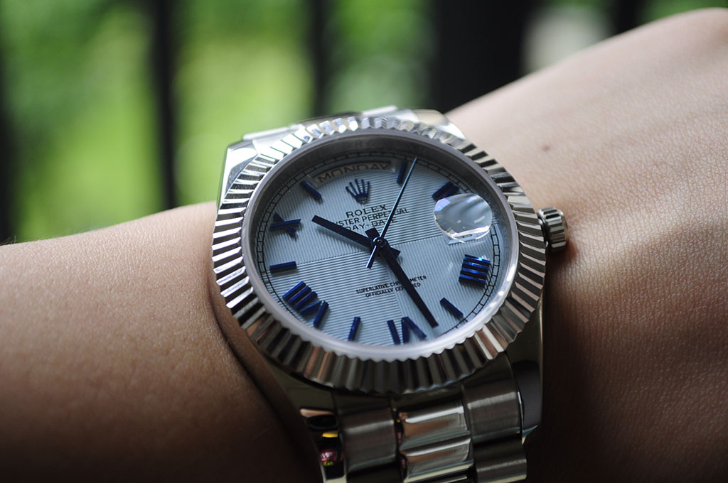 Replica Rolex Day Date Wrist Shot