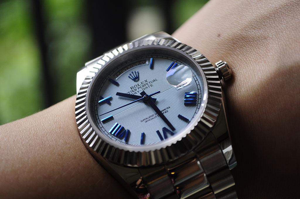 Replica Rolex Day-Date on Wrist