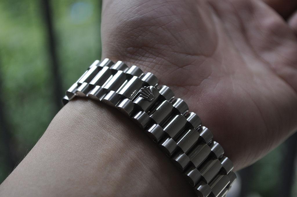 Rolex Bracelet on Wrist