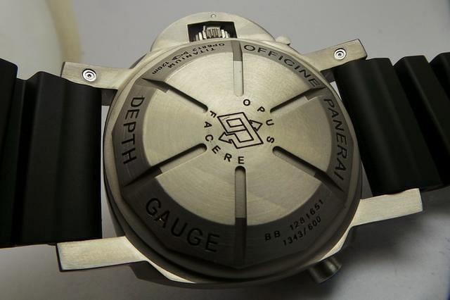 Panerai Depth Gauge Case Back