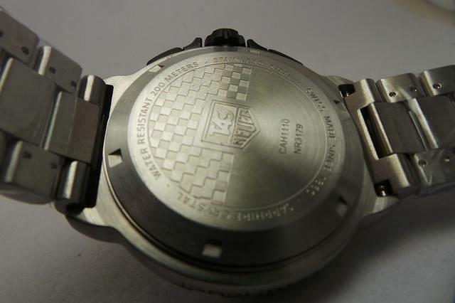 Tag Heuer Formula 1 Case Back