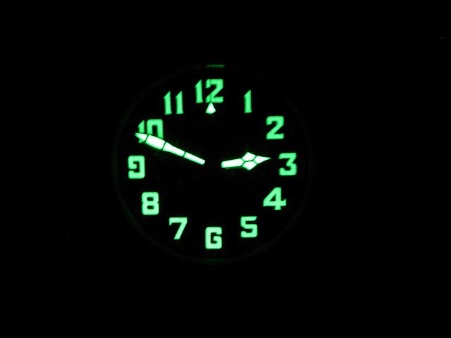 Zenith Ton-up Dial Lume