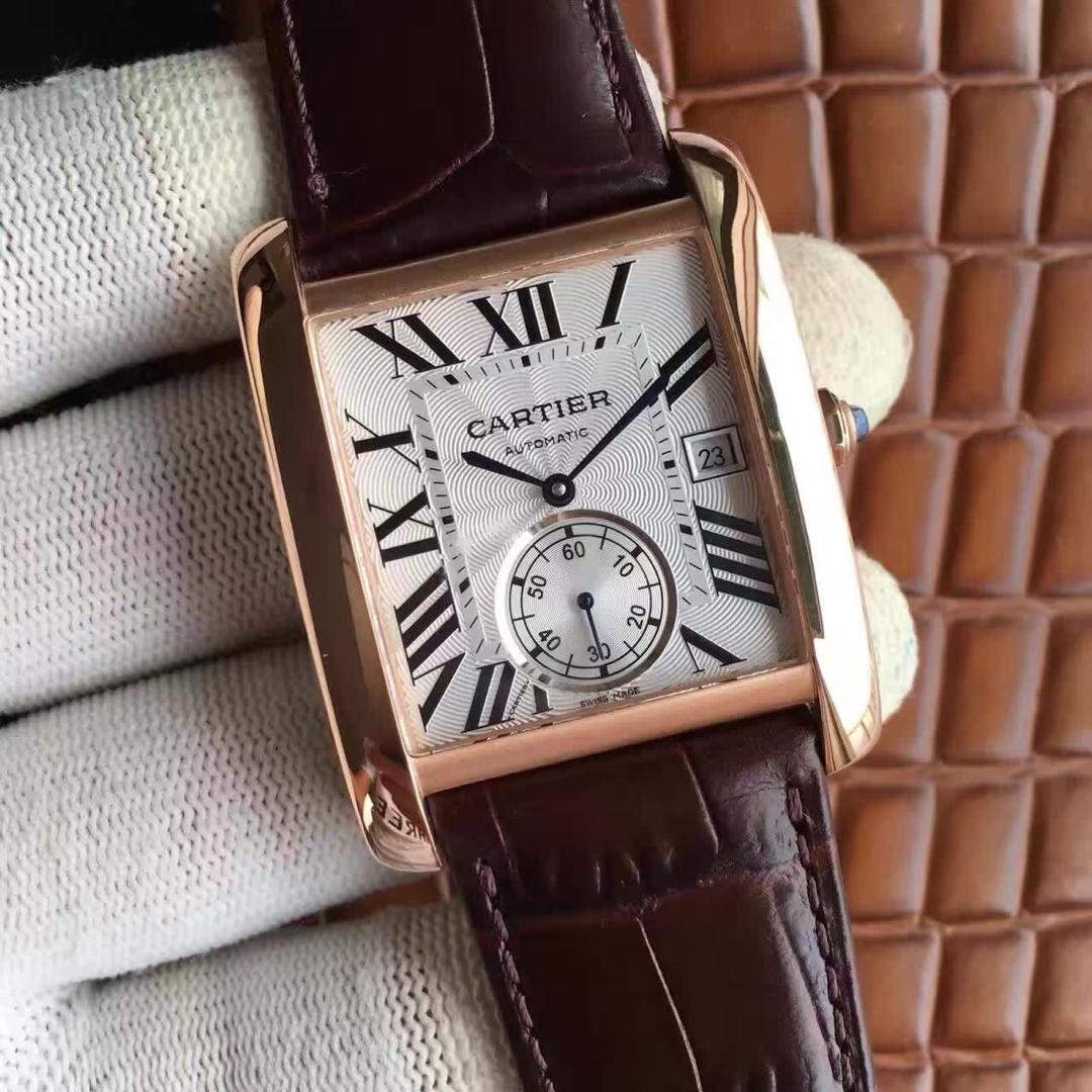 Cartier Tank Rose Gold Case
