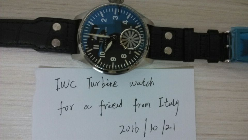 IWC Turbine Watch Order