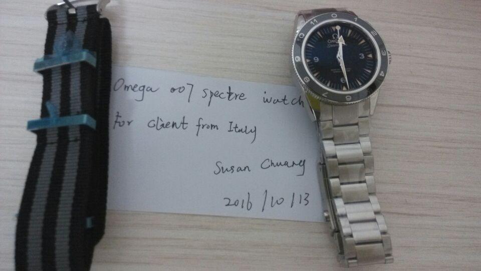 Omega 007 Spectre Steel Bracelet for Italian Client