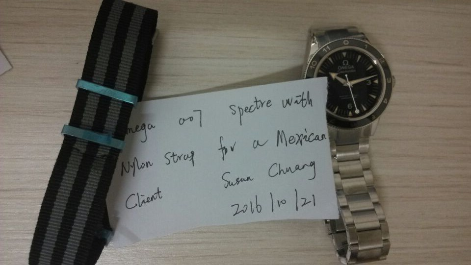 Omega 007 Spectre Steel Bracelet for Mexican Client