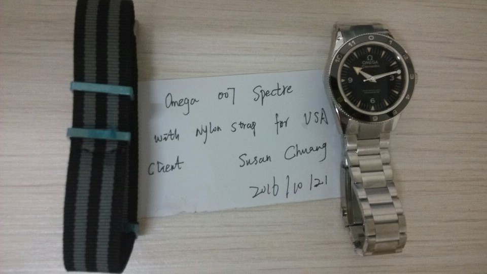 Omega 007 Spectre Steel Watch for USA Client