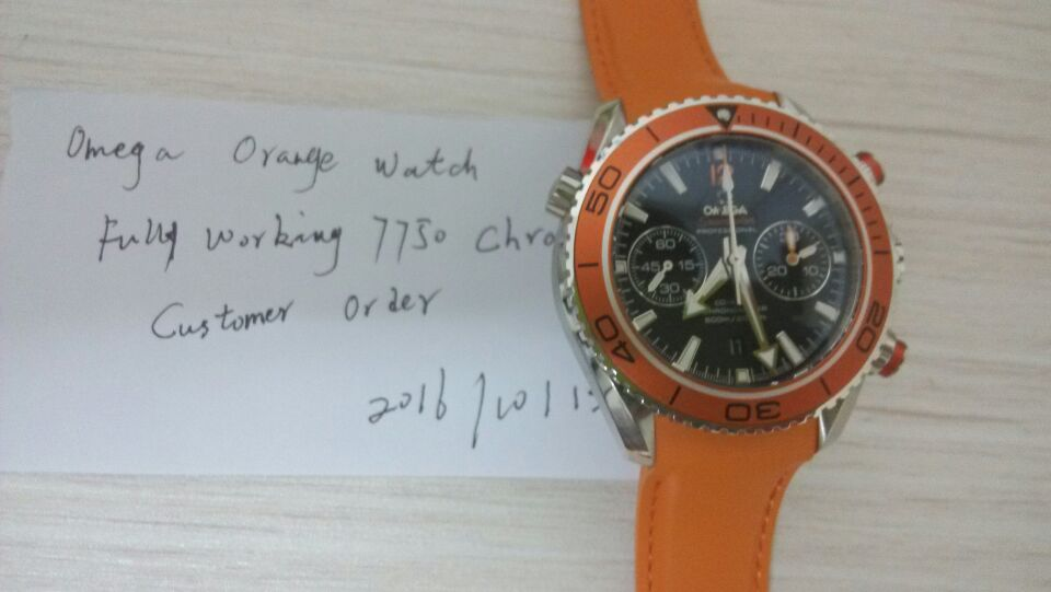 Orange Omega Watch Order