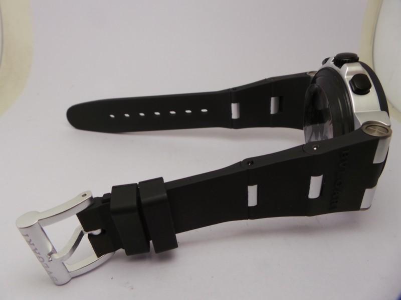 Bvlgari Aluminium Black Rubber Strap