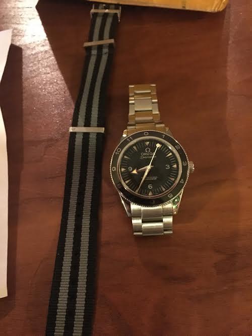 Steel 007 Watch on Desk