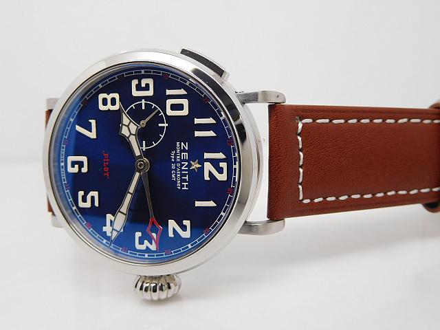 Zenith Pilot Montre d'Aeronef Type 20 GMT Blue Dial