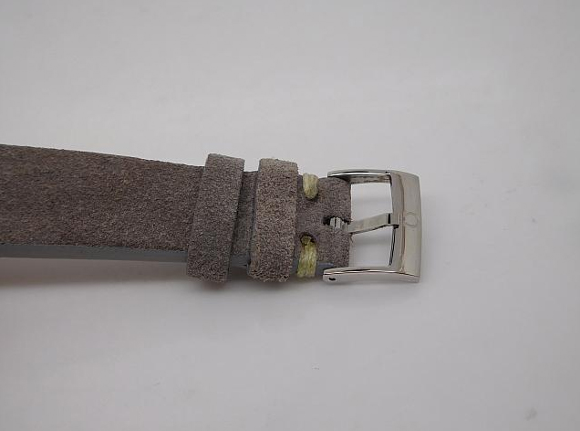 Suede Grey Leather Strap