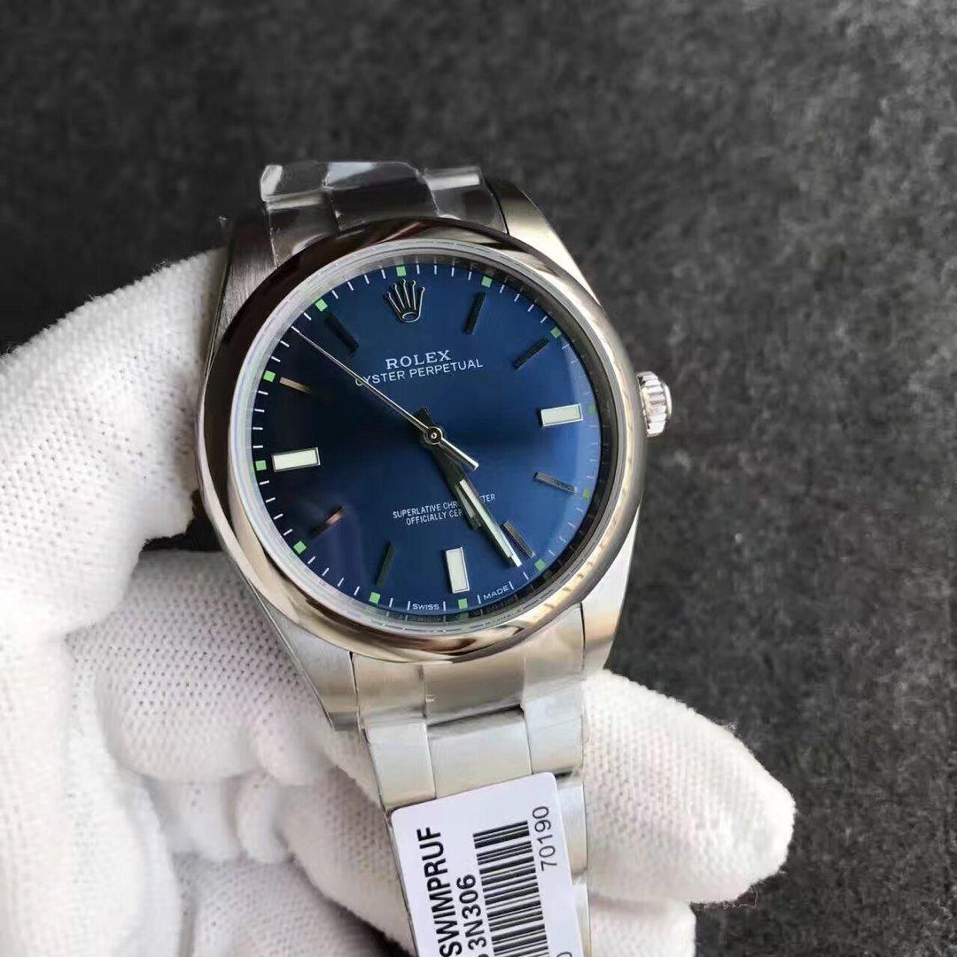 Replica Rolex Oyster Perpetual 114300 Blue Dial