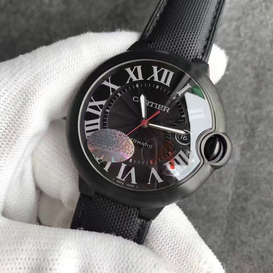 Cartier Ballon Bleu Carbon Replica