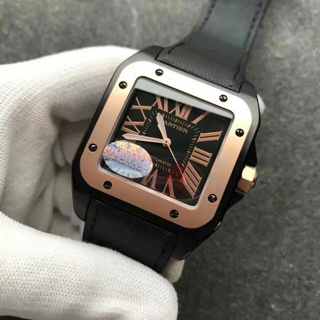 Cartier Santos 100 Black Dial