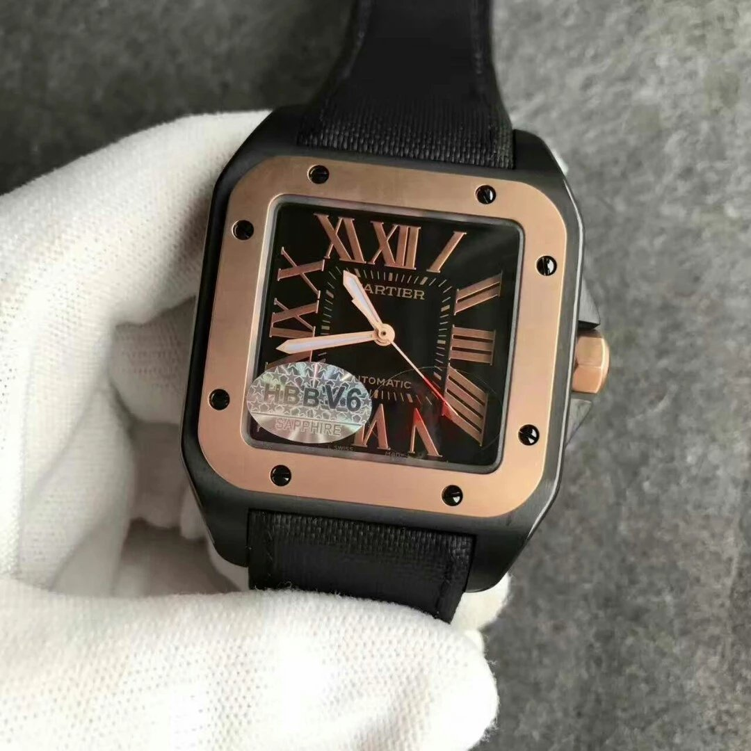 Cartier Santos 100 DLC Black Replica