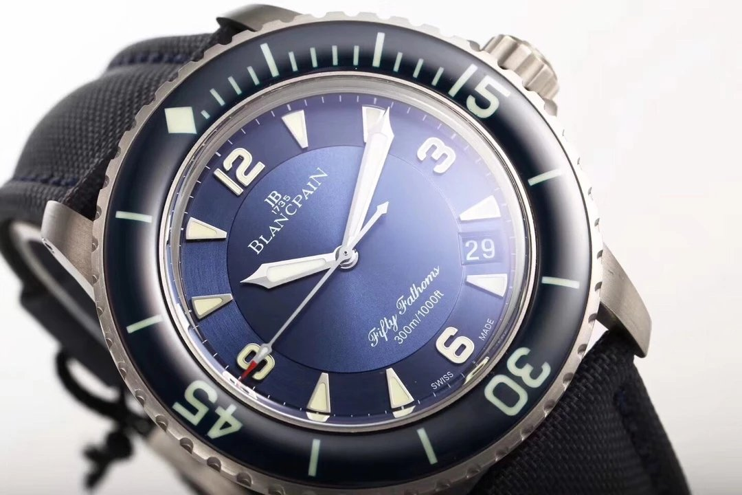 Replica Blancpain Fifty Fathoms Blue Dial