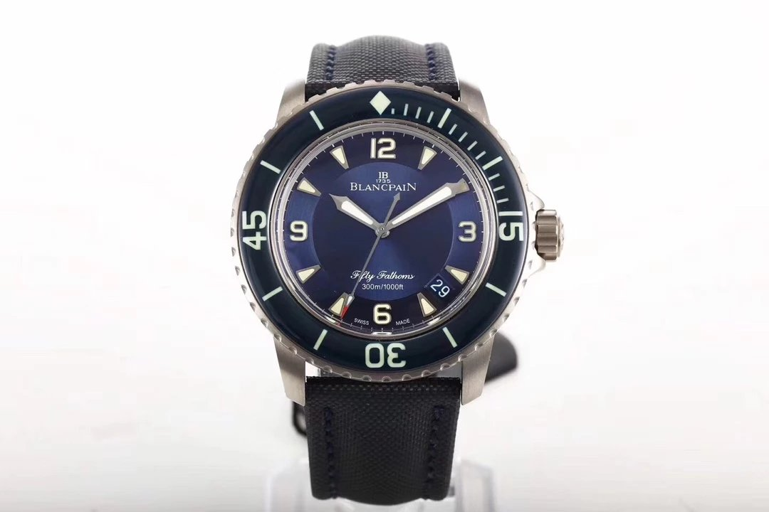 Replica Blancpain Fifty Fathoms Titanium Blue