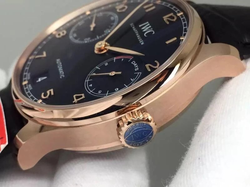 Replica IWC Portuguese 7 Days Power Reserve Rose Gold Case
