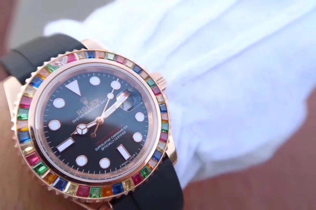 Replica Rolex YachtMaster 116695SATS Wrist Shot