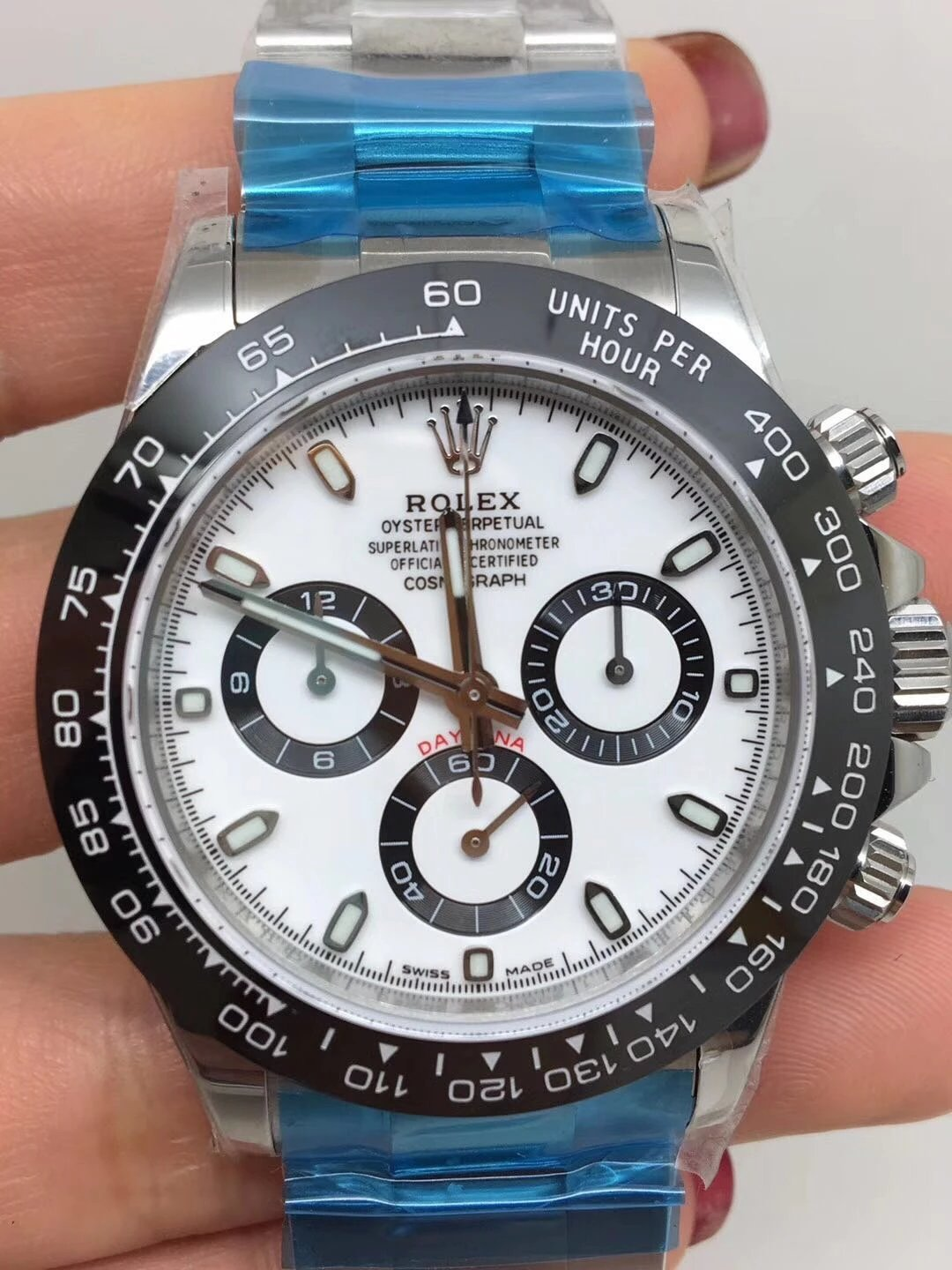 Noob Replica Rolex Daytona 116500 Ceramic White_1