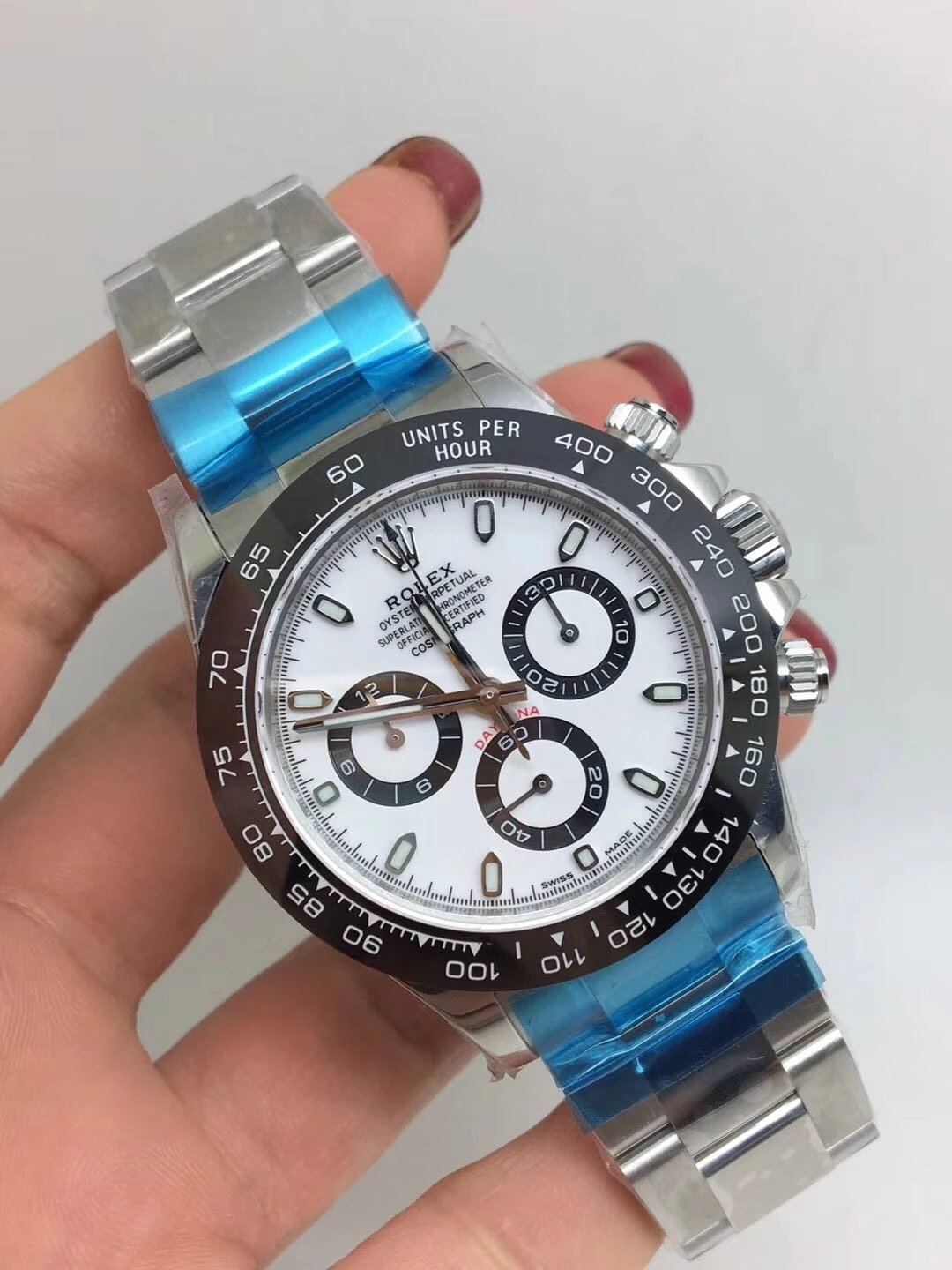 Noob Replica Rolex Daytona 116500 Ceramic White_2