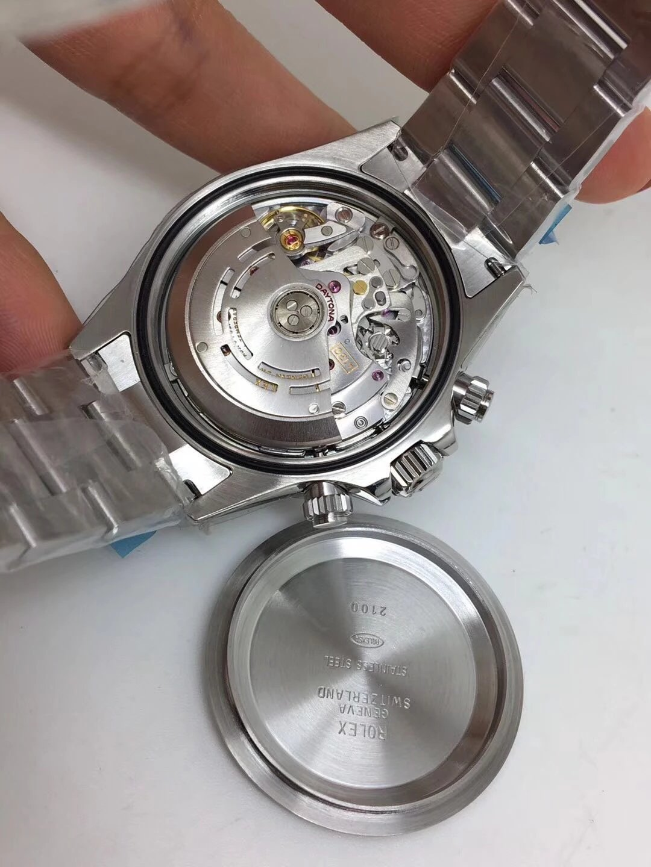 Noob Replica Rolex Daytona 116520 SS Black_6