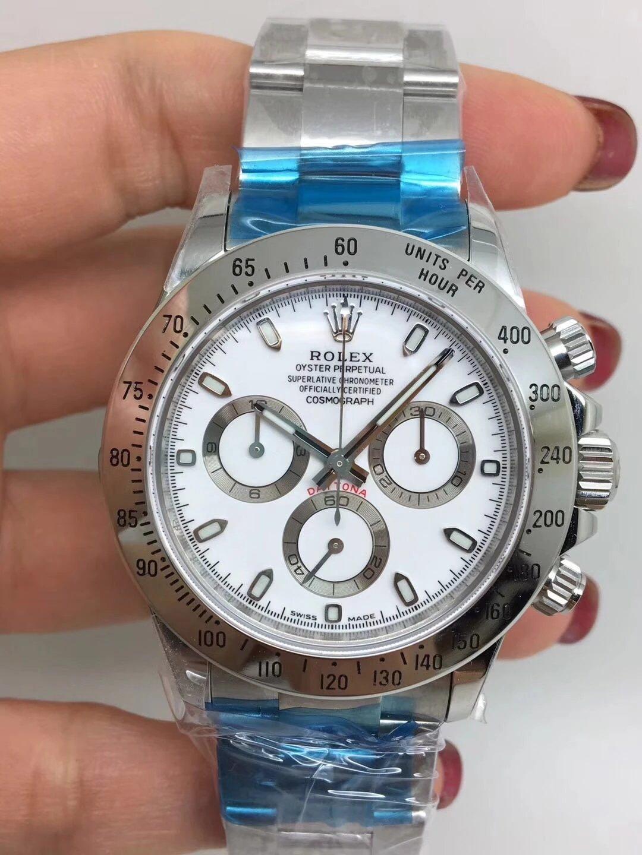 Noob Replica Rolex Daytona 116520 SS White