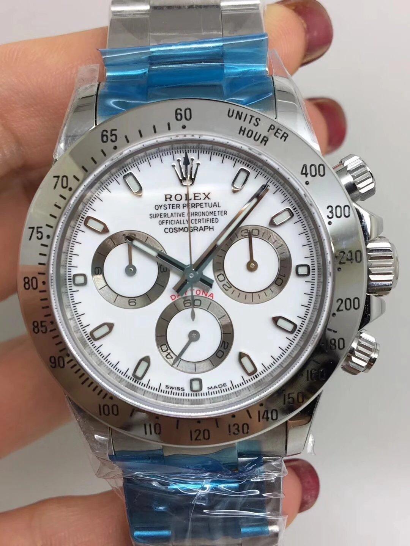 Noob Replica Rolex Daytona 116520 SS White_1