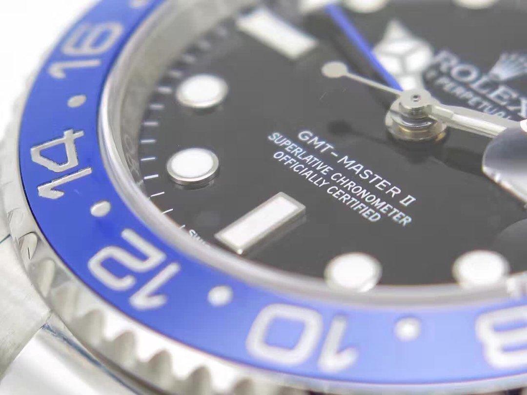 Replica Rolex GMT Master II 116710 BLNR Bezel Engraving